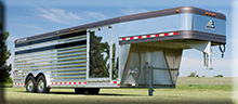 8 x 24 Elite aluminum SHOW CATTLE trailer